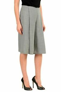 Maison-Margiela-4-100-Wool-Gray-Women-039-s-Casual-Shorts-US-M-IT-42