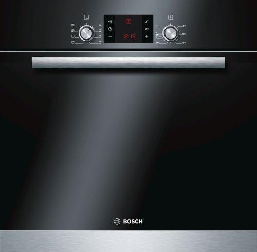 Bosch HBA43T150 Einbaubackofen, schwarz- Edelstahl, 3-fach Teleskopauszug