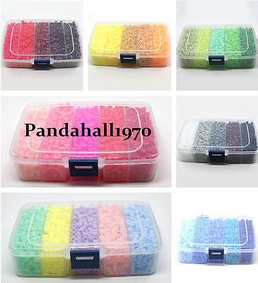 1900pcs/ box Perler Fun Fusion Hama Fuse Beads Refills Solid Color Kid Kit Craft