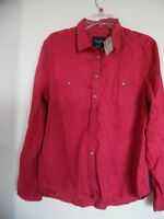 Womens American Eagle Red Shirt Size L $44.95 Nice