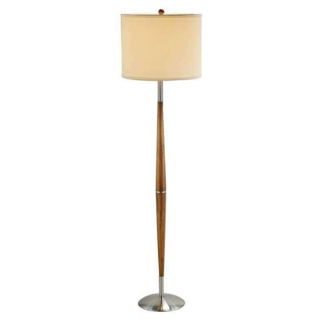 Adesso 3341 13 Hudson Floor Lamp One Size Dark Maple For Sale Online Ebay