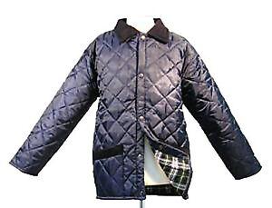 Enfants manteau matelassé cheval équitation veste bleu marine nouveau