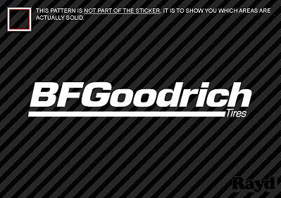 """2x BF Goodrich Decal Sticker Die Cut 12/"""" wide"""
