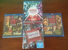 Hammer Horror: 8-Film Collection Blu-ray 16-Disc Set Mummy Dracula Frankenstein