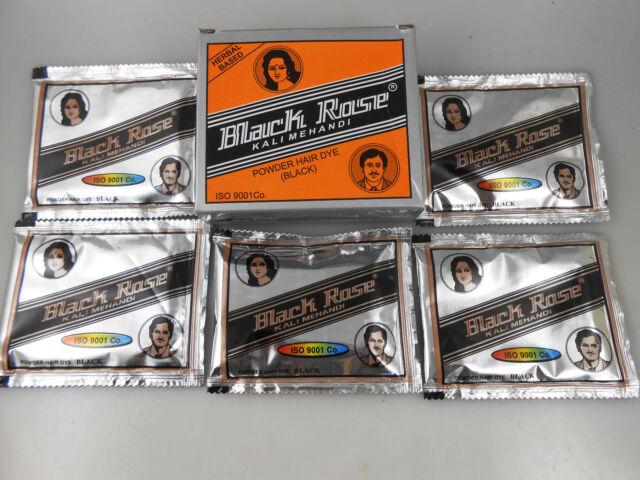 5 Packets Black Rose 50g Kali Black Mehandi Henna Herbal Based Hair