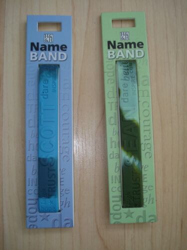 """History /& Heraldry Rubber Personalised Wristband Boys Names Starting /""""S/"""" NEW"""