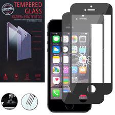 2 Films Verre Trempe Protecteur Protection NOIR pour Apple iPhone 5/ 5S/ 5se