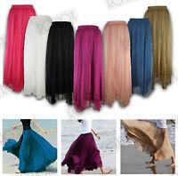 New Long Loose Chiffon Maxi Boho Bohemian Cool Loose Hippie Beach Summer Skirt