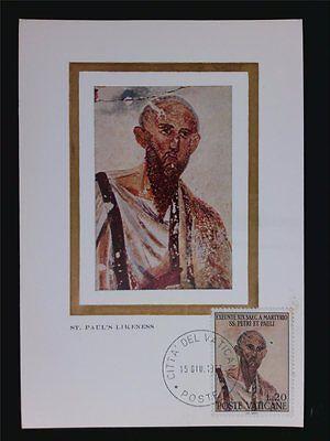 Briefmarken Vatican Mk 1967 Heiliger Paulus Holy Maximumkarte Carte Maximum Card Mc Cm C6278 Niedriger Preis