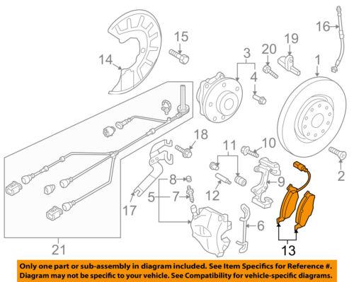 AUDI OEM 15-17 Q3 Brake-Front Pads 5N0698151C