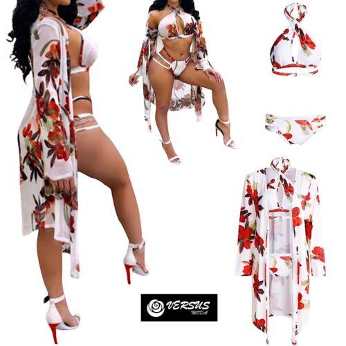 Costume da Bagno Bikini Donna Mare con Copricostume Woman Swimsuit Set 550062