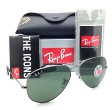 RAY-BAN MEN'S GUNMETAL POLARIZED AVIATOR CLASSIC SUNGLASSES RB3025 004/58 G-15