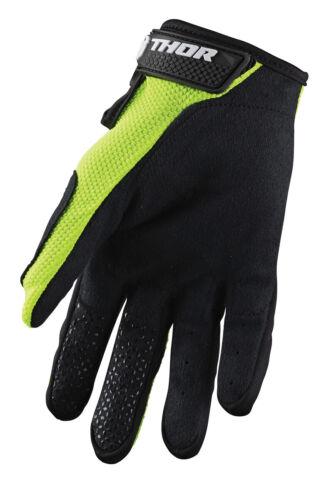 Thor MX Motocross Youth Sector Gloves Flo Acid//Black Choose Size