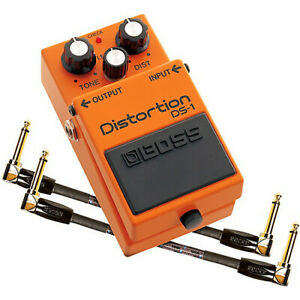 Boss-DS-1-Distortion-Effects-Pedal-and-Two-6-Inch-Jumper-Cable-Promo-Pack