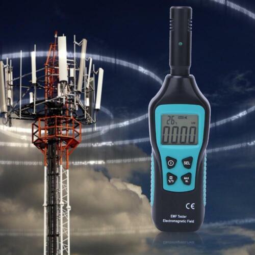 Digital LCD EMF Tester Elektromagnetisches Feld Strahlungsdetektor Meter 1-1999V