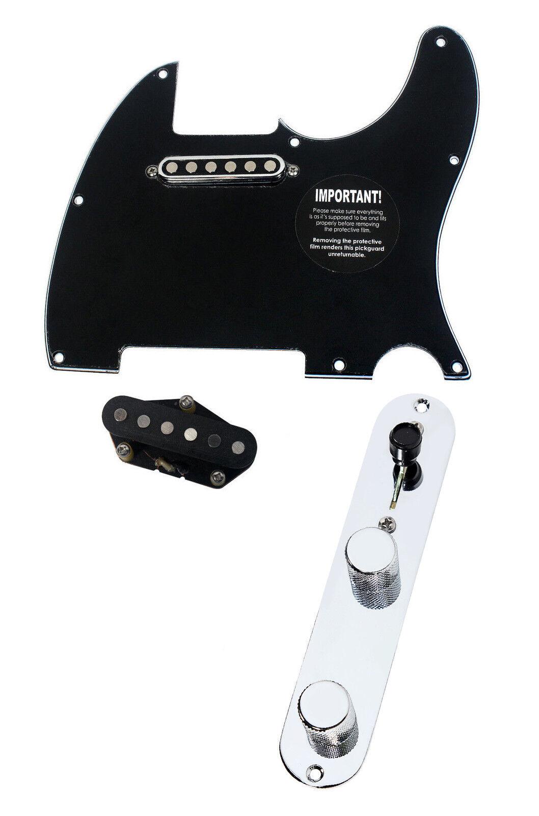 920D Fender Telecaster pickguard cargada cargada cargada Tv Jones Tele Pastillas T4W BK 6f89f6