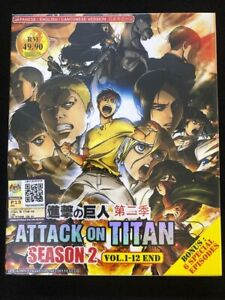 DVD-Anime-Ataque-A-Los-Titanes-Temporada-2-Serie-De-Tv-1-12-Bonus-6-especial-Ingles-Dub