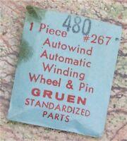 Gruen 480 Winding Wheel & Pinion Gruen Part 267 Vintage Gruen Watch Part