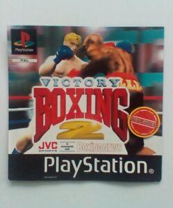 * Incrustation Avant Seulement * Victory Boxing 2 Incrustation Avant Ps1 Psone Playstation-afficher Le Titre D'origine Rxos9vx9-07164642-866437209