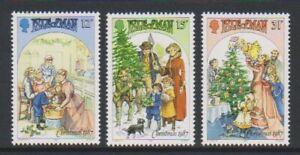 Ile-de-Man-1987-Noel-Victorien-Scenes-Ensemble-MNH-Sg-358-60