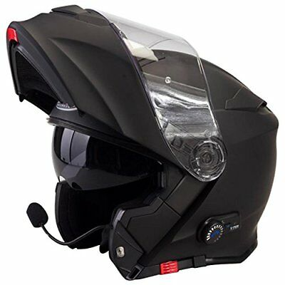 Colore Nero Opaco M Casco modulare bluetooth Viper V171 Casco Moto Touring Apribile Bluetooth Integrato Casco
