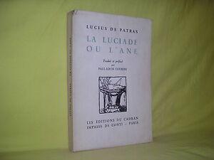 La-luciade-ou-l-039-ane-Lucius-de-Patras-preface-de-Paul-Louis-Courier-1930