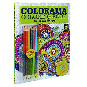 Image Is Loading Colorama Coloring Book Color Me Happy