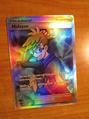 NM FULL ART Pokemon MOLAYNE Card UNBROKEN BONDS Set 212//214 SM Trainer Supporter