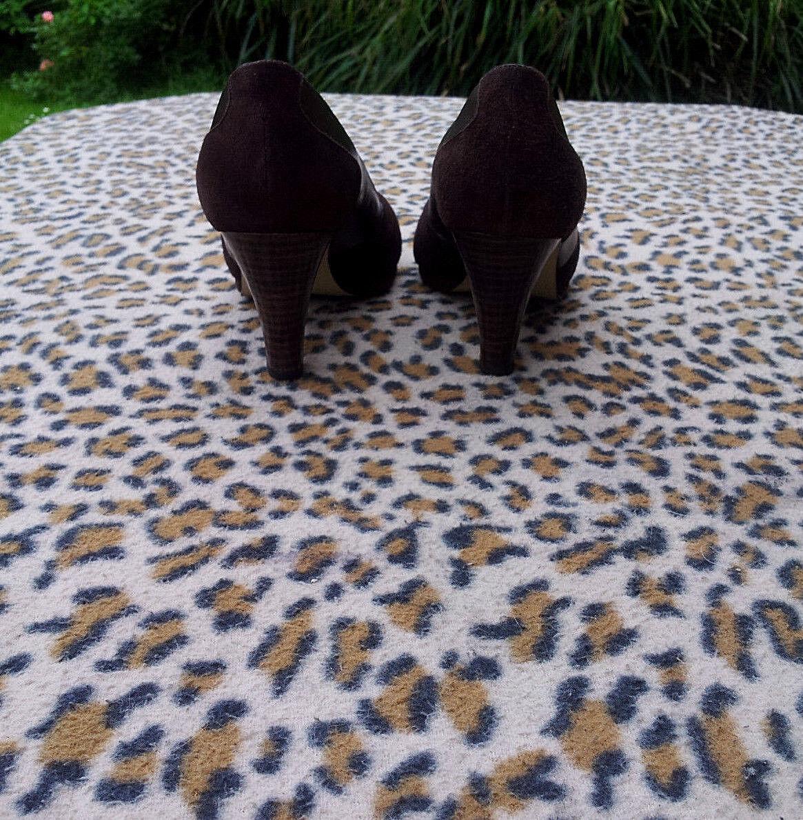 Kurt Geiger braun Suede Suede Suede Leather Peep Toe high heeled schuhe UK Größe 6 EU 39 f92ea1