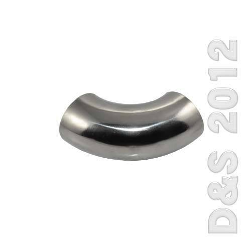 """OD 3//4/""""-4/"""" 19mm 102mm Sanitary Weld Elbow Pipe Fitting 90° SS SUS 316 CF8M"""
