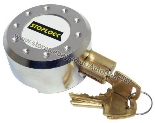 Stoplock White High Security Anti Theft Van Door Lock Hasps Padlock /& 3 Keys
