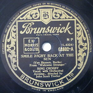 78-record-in-frame-SMILE-RIGHT-BACK-AT-THE-SUN-MY-HEART-IS-A-HOBO-bing-crosby