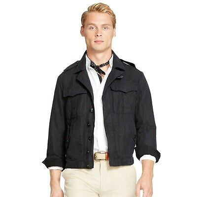 JacketBlackXxlEbay Flight Linen Cotton Polo Ralph Lauren Men's rdWxBCoQe