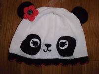 12 18 M Gymboree Happy Panda Sweater Hat Poppy Flower Baby Girl