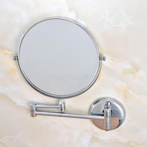 Chrome Folding Bathroom Makeup Mirror 3x Magnifying Wall Mount Vanity Mirror