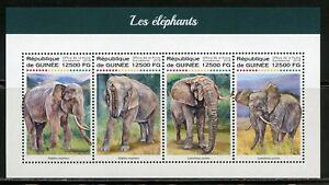 Guinee-2018-elephants-feuille-neuf-sans-charniere