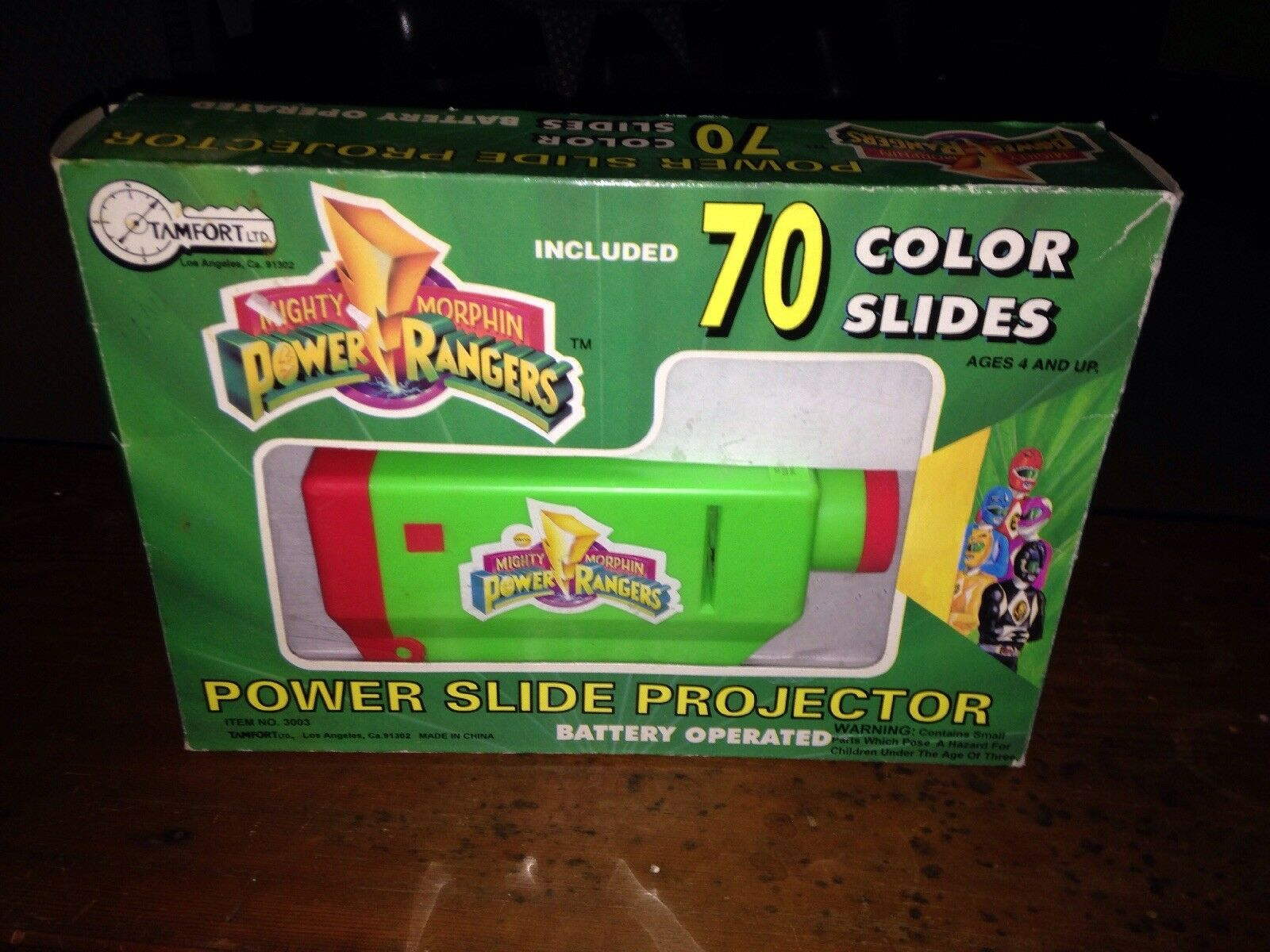 RARE Mighty Morphin Power Rangers POWER SLIDE PROJECTOR Complete In Box CIB TOY