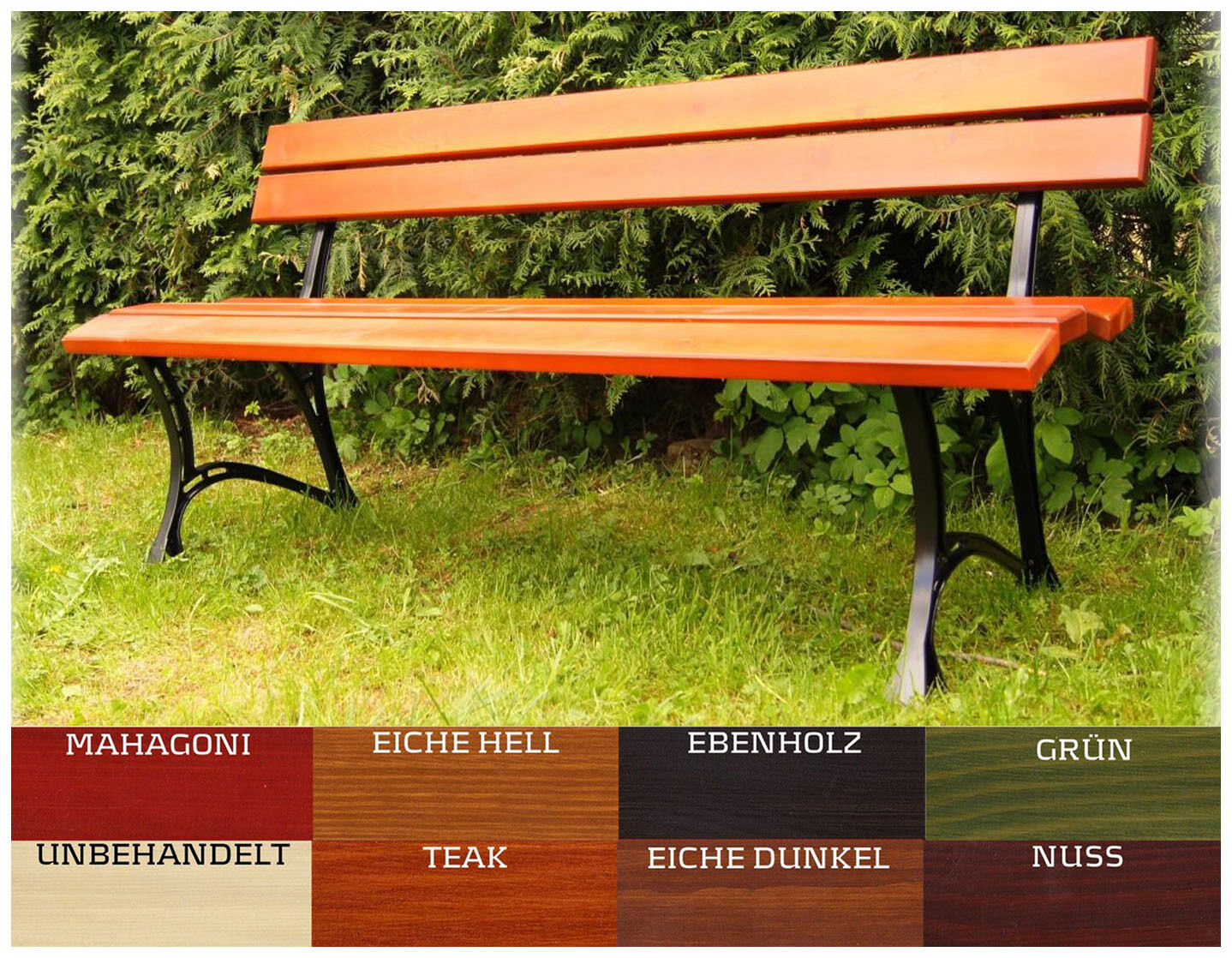 Gartenbank Sitzbank Gartenmöbel Holzbank Parkbank TEAK NUSS 160 cm Hersteller