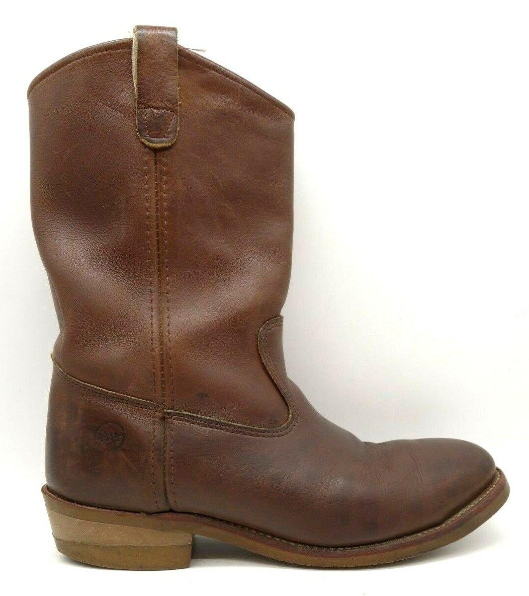 Double H Brown Leather Oil Resistant Classic Cowboy Western Boots Men's 10 D