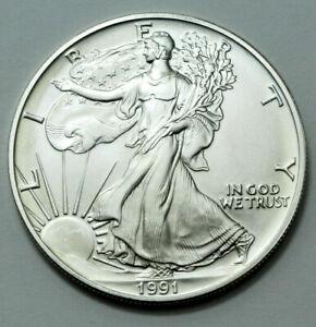 Better Date 2001 American Silver Eagle 1 Troy Oz .999 Fine Silver BU Unc