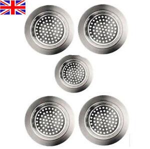 5 BATHTUB HAIR CATCHER Metal Shower/Sink Drain Hole Filter Trap Strainer/Stopper