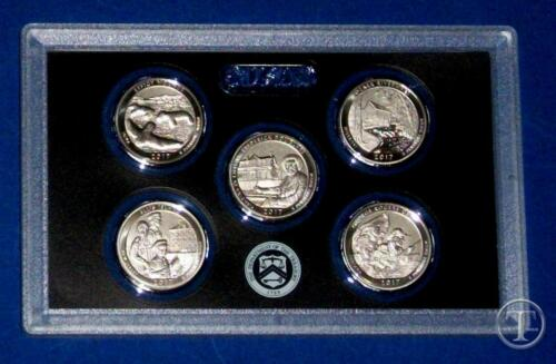 From 225th Anniversary Set-5 Coins 2017 S Enhanced Uncirculated Quarter Set