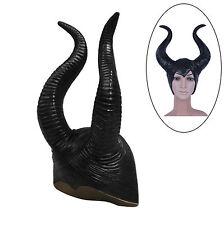 Neu Maleficent Karneval Costplay Halloween Kostume Party TEUFEL HÖRNER KAPPE HUK