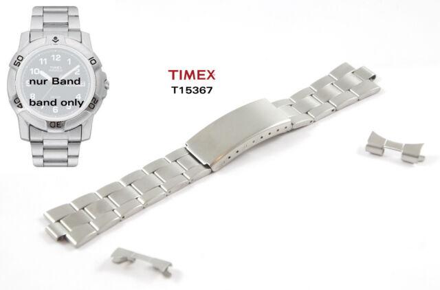 TIMEX Ersatzarmband T15367 Classics Ersatzband Uhrband Edelstahl 20mm
