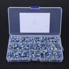 375pcs 15 Values Potentiometer Trimpot Variable Resistor Assortment Box Kit Set