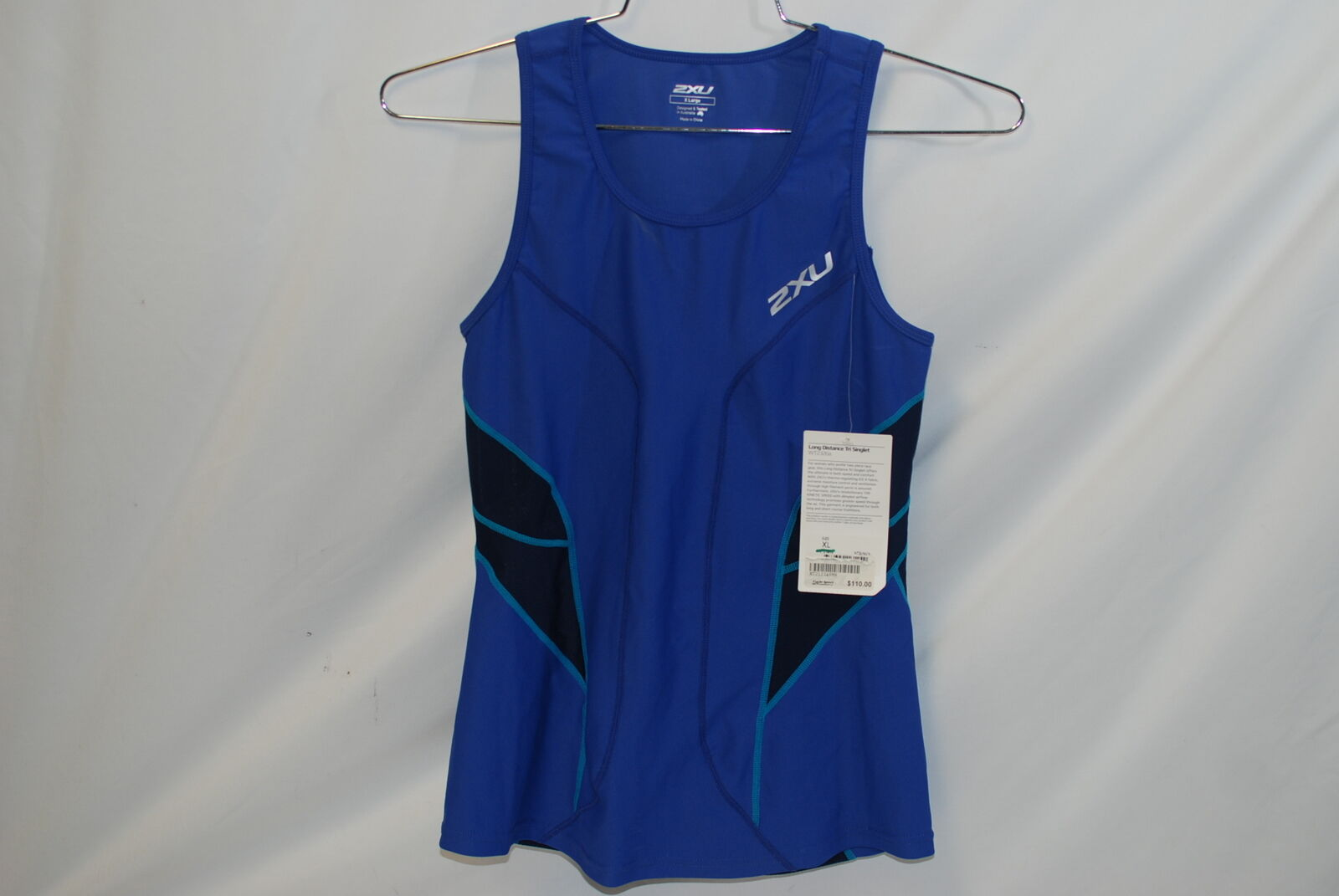 2XU Cycling Womens  Long Distance Tri Singlet bluee Navy XL  clearance