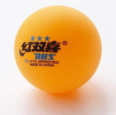 5 box(30 Pcs)3 stars DHS 40MM Olympic Table Tennis Orange Free shipping Cheap