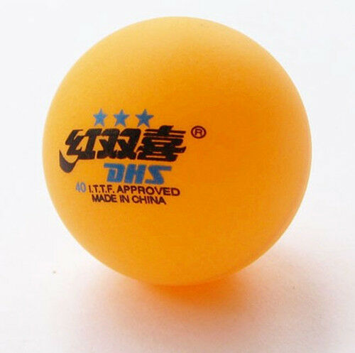 3 Stars Dhs 40mm Olympic Table Tennis Orange Ping Pong