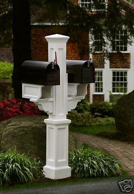 Double Box mailpost, mailbox post, twin mailbox post