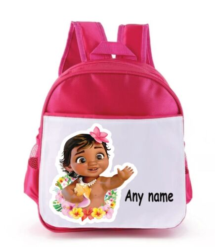 Personalised Moana Kids backpack With without background added see pic